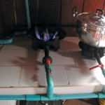 Supergas fueled stove
